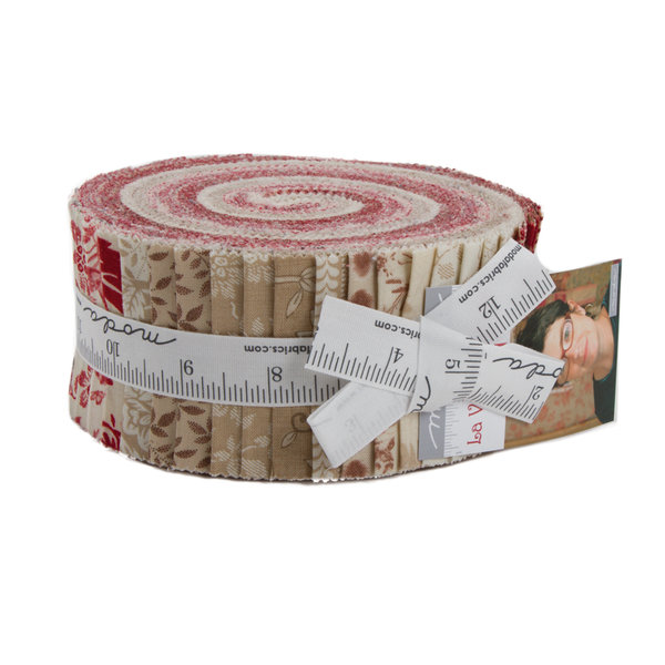 "Moda ""French General, La Vie en Rouge"" Jelly Roll Artikelnummer 1478"