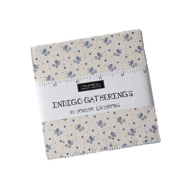 "Moda ""Primitive Gatherings, Indigo Gatherings"" Charm Pack Artikelnummer 1486"