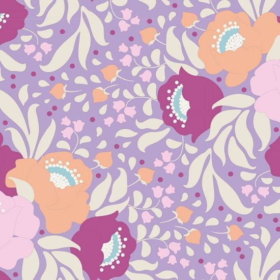 "Tilda ""Quilt Collection, Plum Garden, Autumn Bouquet Lavender"" Artikelnummer 1750"