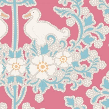 "Tilda ""Quilt Collection, Plum Garden, Duck Nest Peach"" Artikelnummer 1751"