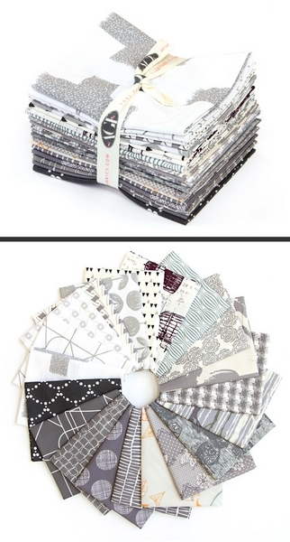 "Art Gallery ""Spectrum Grey Scale"" Fat Quarter Bundle, Artikelnummer 1970"